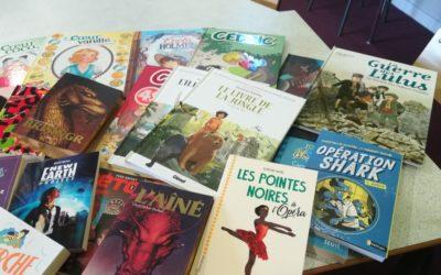 Achats de matériels d'EPS et de livres et BD pour le CDI : Merci l'APEL St Jo !